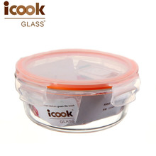 High borosilicate glass container Microwave Oven Glass Lunch Box 100% aritight glass crisper