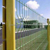 2015 New Green Plastic /PVC/Powder coated/coating security welded wire mesh panel fence (China YAQI Manufacturer)
