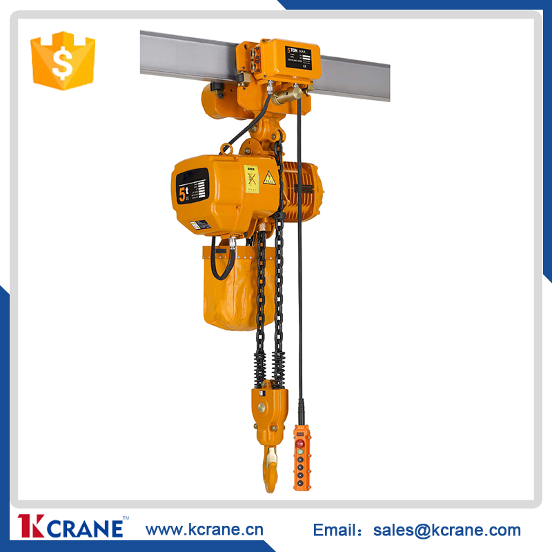 Electric chain hoist 5 ton Fixed Type with Hand control for sale 2017