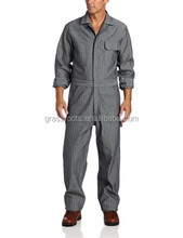 2016 new design grey workwear coverall wholesale/ Promotional cheap Flame retardant workwear overalls china