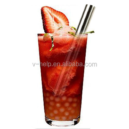 Reusable Straight Drinking Straw, Stainless Steel Beverage Straws with Cleaning Brush for Juice Cocktail Beverage