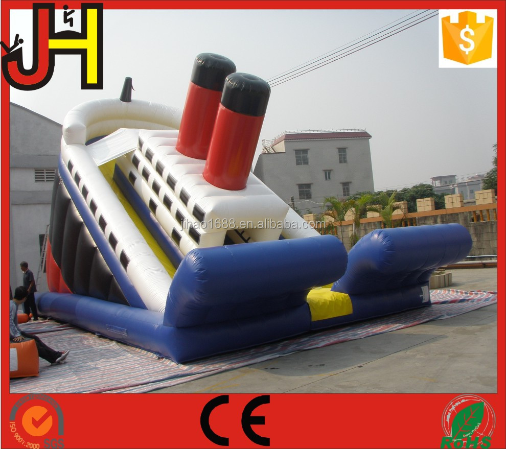Factory Price Inflatable Titanic Slide Bouncy Castle For Sale