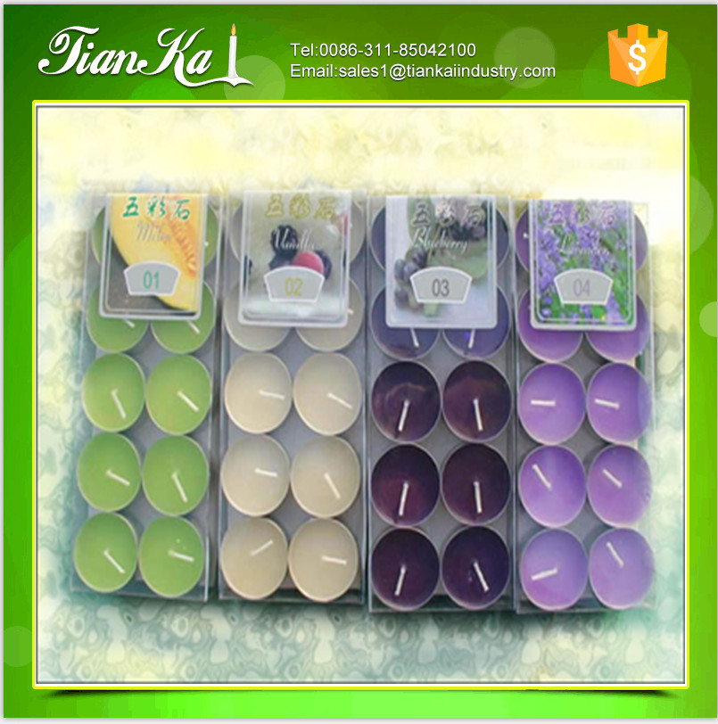 Candles factory wholesale ghee wax colorful tealight candles