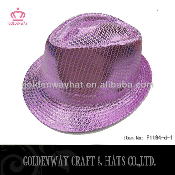 Purple Sequin Fedora Hat F1194-d