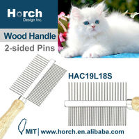 Seshedding tool grooming pet comb with wooden for nit lice comb