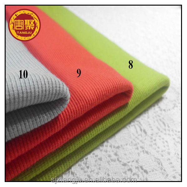 Interlock Rib spandex tubular rib knit fabric