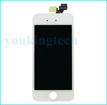 for iphone 5 white color lcd digitizer assembly, for 5g replacement lcd panel