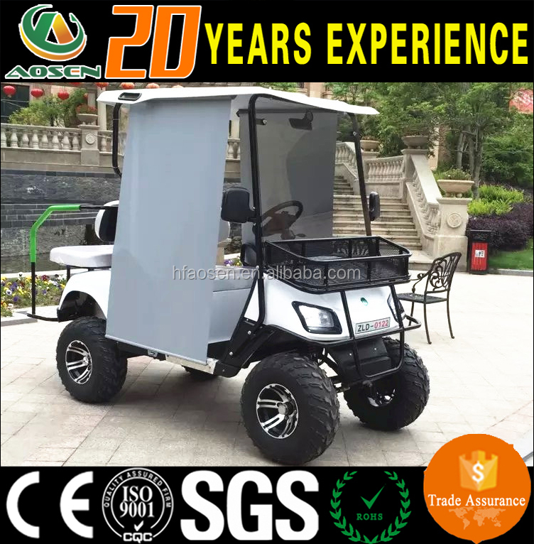 China Factory Price Wholesale 4 Seats Gas Powered Golf Cart with Visor Curatin