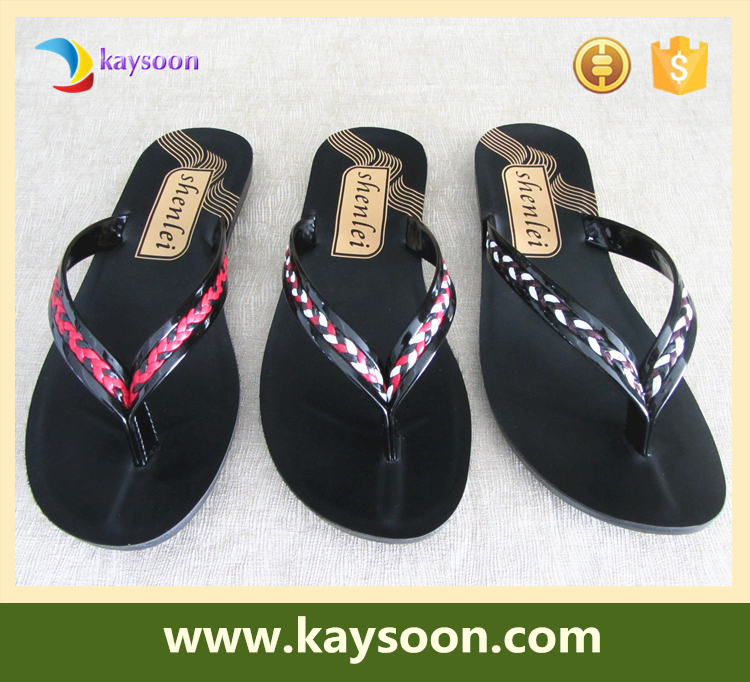 Discount New PU leather fashion <strong>slipper</strong> flip flop women <strong>slippers</strong>