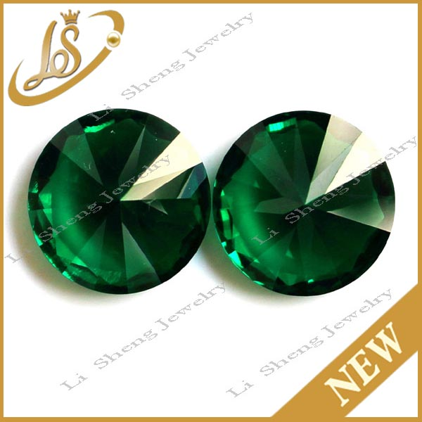 Wholesale round synthetic emerald green nano cz gems spinel prices