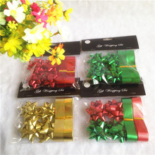 Must popular gift decorative plastic ribbon stars and bow