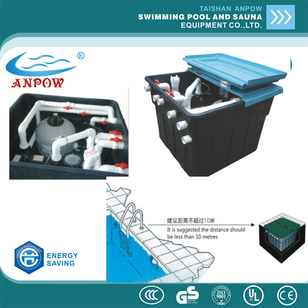anpow integrative underground water filter system,swimming pool filter system