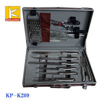 Carrying case stainless steel kitchen knife set with suitecase