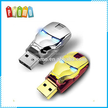 Metal golden &silver USB Flash Drive Pen Drive Iron Man 64GB 32GB