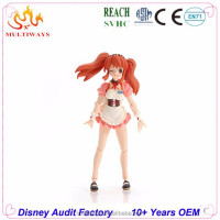 Guangdong beautiful plastic action figure one piece for customized