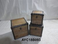 New Design Decorative Wood Box,Antique Metal Boxes,Wooden Trunk