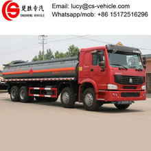 Heavy duty HOWO 30m3 chemical liquid tanker truck fuel tank truck for sale