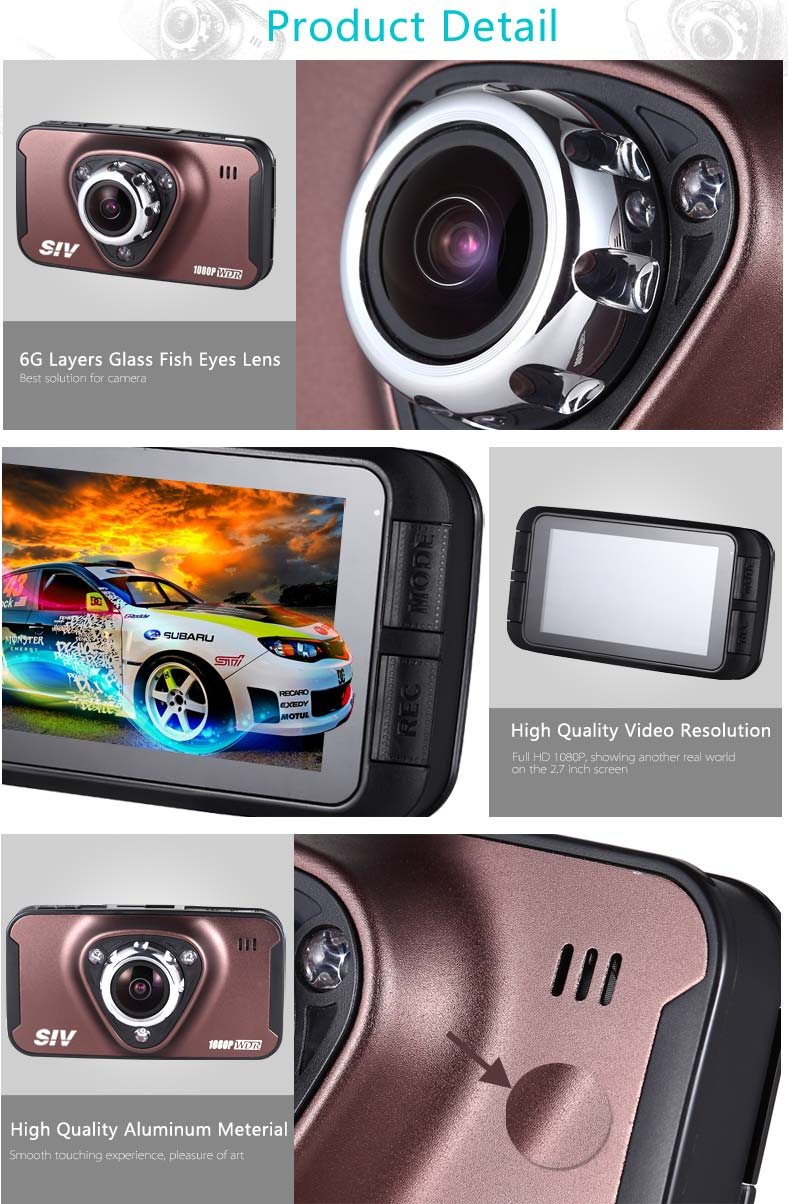 SIV Novatek 96650 M7 HD 1080P dashcam 170 degree wide angle dash cam