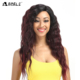 Noble gold synthetic hair high quality deep curly ombre color hair fashion lace front wig