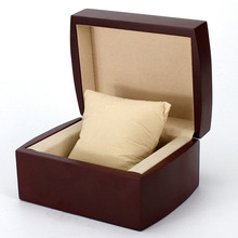 Red Wooden Single Watch Packing Box Oem Watch Box With Logo