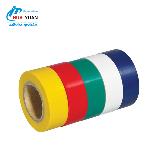 Red electrical adhesive PVC insulation tape for integration wiring harness