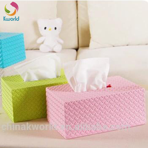 Plastic car tissue box with storage function