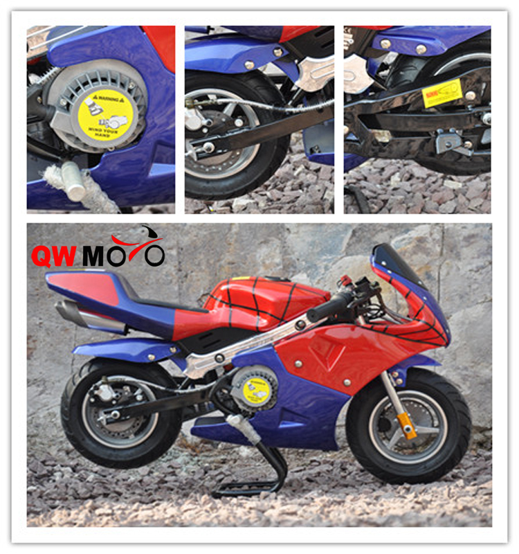 49cc Mini Pocket Bike with New easy alloy pull starter kids