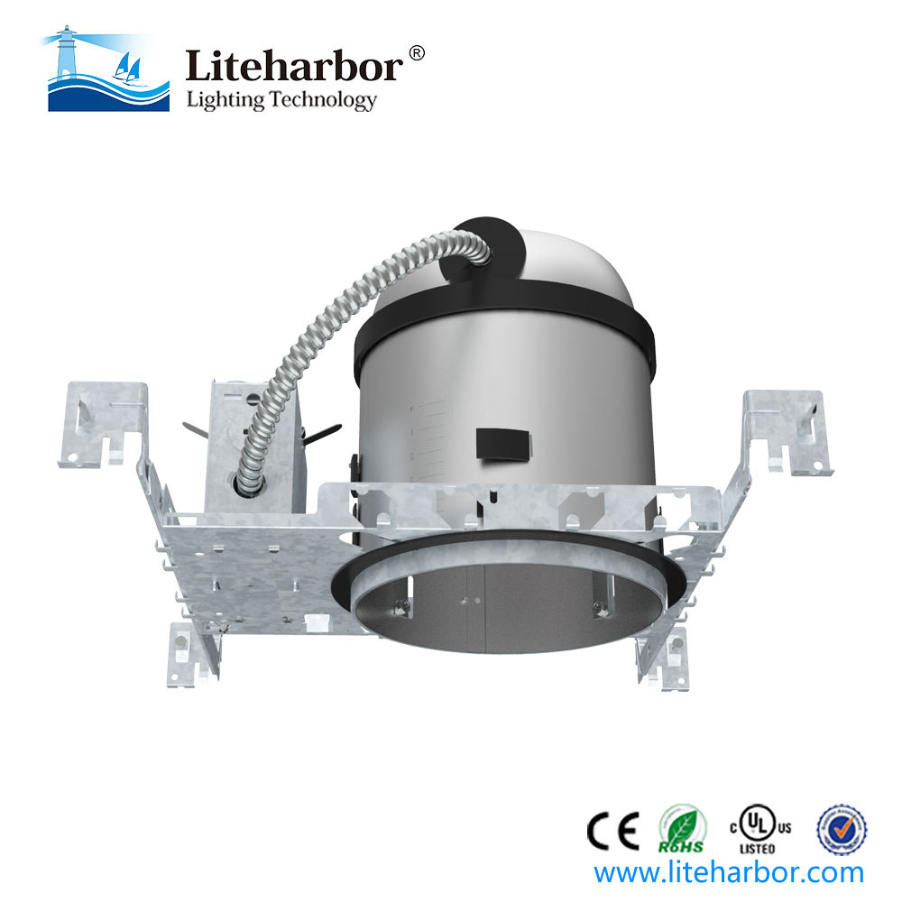 Recessed IC Rated New Construction Housing 6 inch UL LED <strong>Downlight</strong>