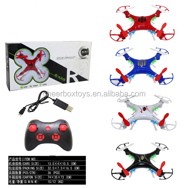 Air Gyroscope 13.5cm 4 Axis Mini size RC aircraft with functions