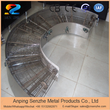 high strength stainless steel flat flex mesh wire conveyor belt for food equipment