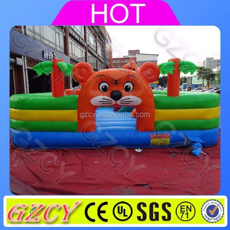 Indoor playground hot sale inflatable fun city, animal theme inflatable bouncy castle