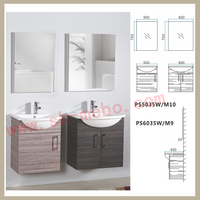 best sales small size MDF white painted particle board side bathroom furniture vanities