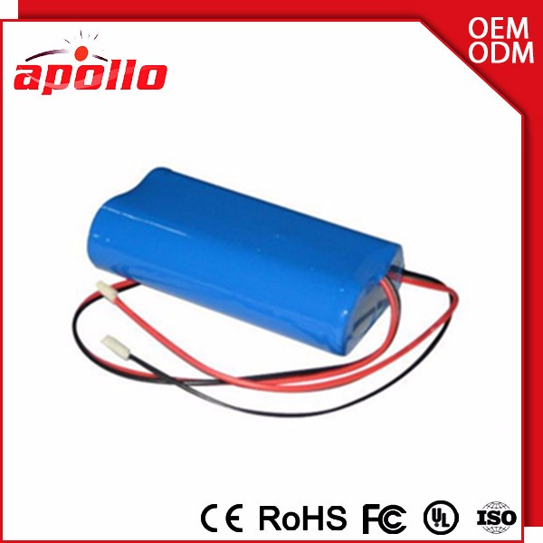 18650 battery dimensions 7.4v 2600mah lithium Li Polymer battery pack