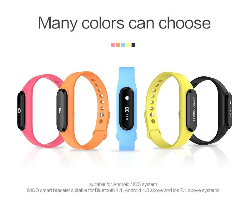 Pedometer Smart Bracelet Customize heart rate smart band for Samsung &iPhone