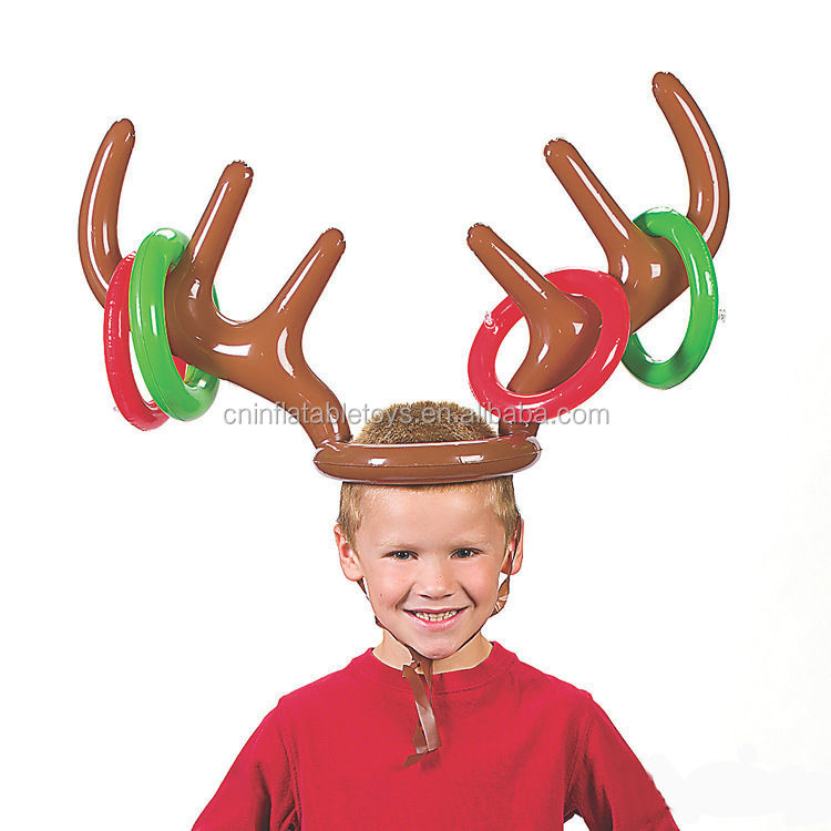 Factory Christmas Party Gift Inflatable Reindeer Antler