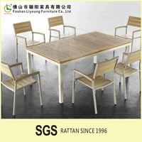 Environmental protection plastic wood set garden leisure polywood chair and table dining room set