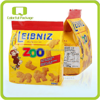 Top Quality Free Design Side Gusset Bottom Self Standing Biscuit Packing Bag With PET PE PA AL