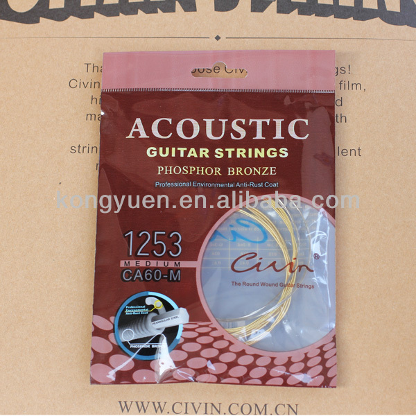 Civin acoustic guitar strings and bronze acoustic guitar strings