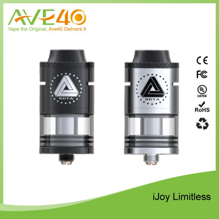 atomizer tank IJOY limitless rdta 2016 glass atomizer 4ml fit most of mods well