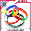 high quality segment colors silicone hand band with company brand