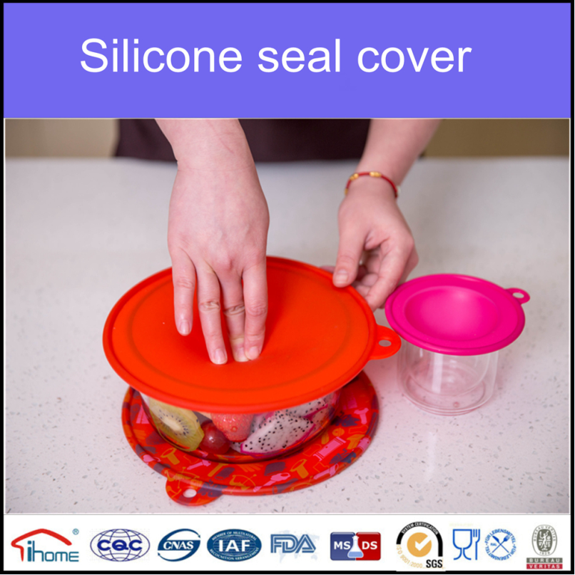 Rubber cup cover silicone lid handle cover