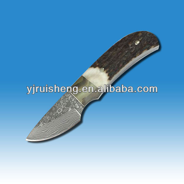 High Quality Knife Damascus with bone handle