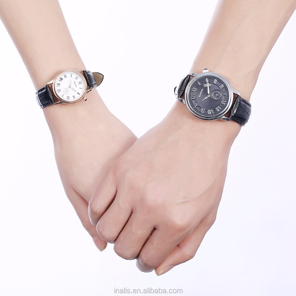 Popular mixed color couple fashion watches