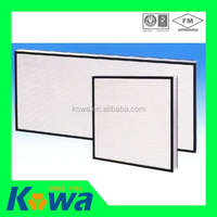 facoty price HEPA filter deep pleated cleanroom 99.99% hepa filter