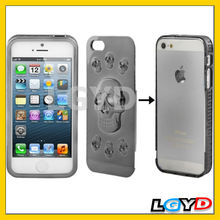 3D Skull Style Detachable Plating Plastic Combination Cellphone Shell for iPhone 5