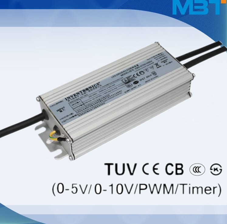 Inventronics led driver constant current input voltage 43~107 V 75w led power supply high quality street lights driver well