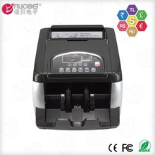 Mini fully automatic digital mixed bill portable money counter and counterfeit detector