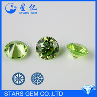 AAA apple green cubic zirconia pave beads