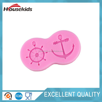 Marine Anchor Rudder Ship Wheel Silicone Fondant Clay Candy Chocolate Jewelry Cake Decorating Mold