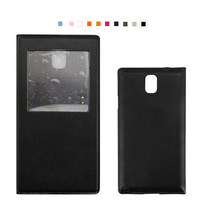 Smart View Leather Flip Sleep Wake Back Cover With Chip Phone Case For Samsung Galaxy Note 3/N900/N9000/N9005